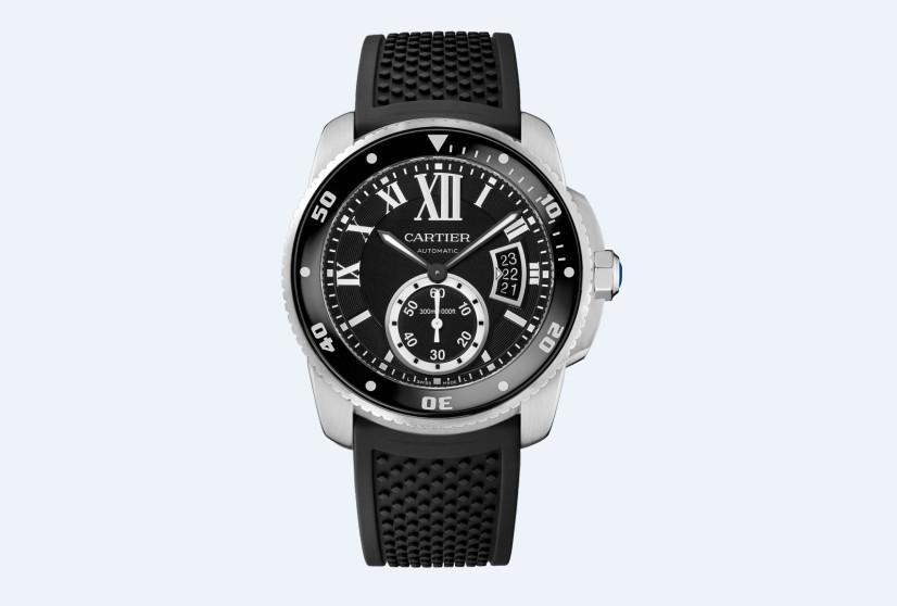 卡地亚维修服务中心的腕表展示