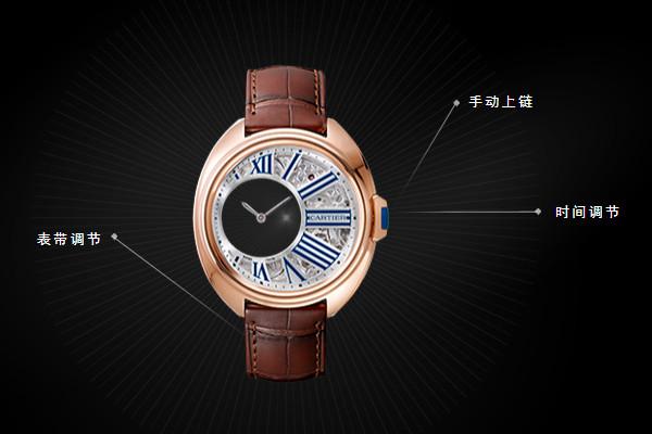 卡地亚维修服务中心的生锈腕表展示